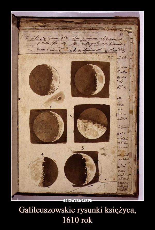 Galileuszowskie rysunki księżyca,1610 rok –