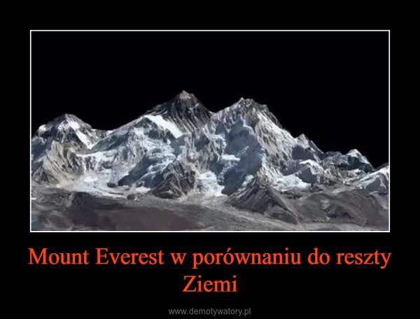 Mount Everest w porównaniu do reszty Ziemi –