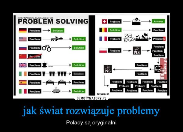 jak świat rozwiązuje problemy – Polacy są oryginalni