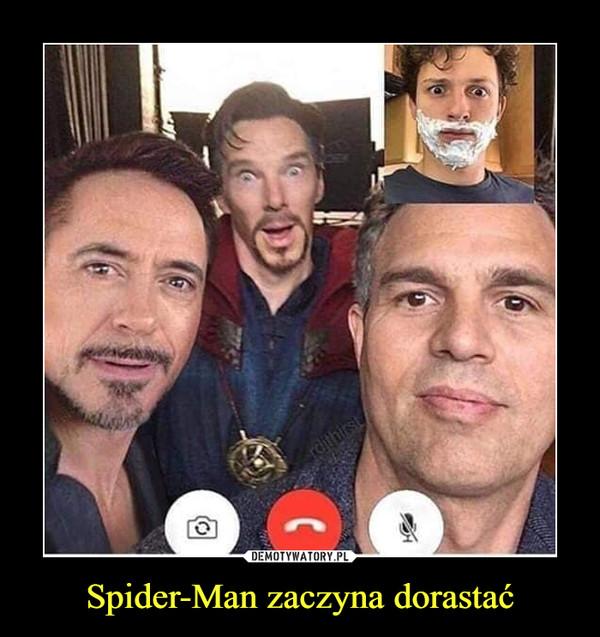 Spider-Man zaczyna dorastać –
