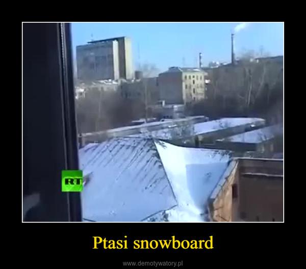 Ptasi snowboard –