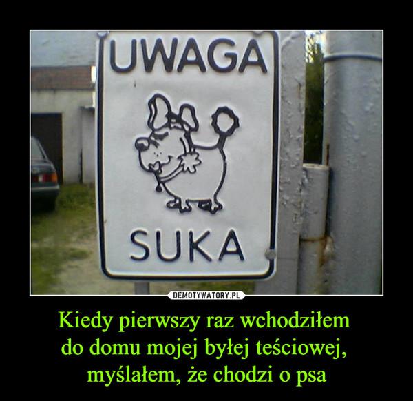 Kiedy pierwszy raz wchodziłem do domu mojej byłej teściowej, myślałem, że chodzi o psa –  UWAGA SUKA