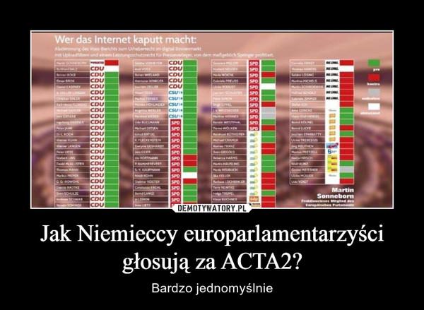 Jak Niemieccy europarlamentarzyści głosują za ACTA2? – Bardzo jednomyślnie
