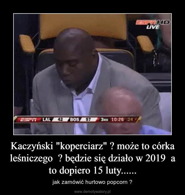 """Kaczyński """"koperciarz"""" ? może to córka leśniczego  ? będzie się działo w 2019  a to dopiero 15 luty...... – jak zamówić hurtowo popcorn ?"""