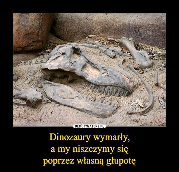 Dinozaury wymarły,a my niszczymy siępoprzez własną głupotę –