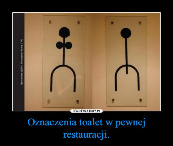 Oznaczenia toalet w pewnej restauracji. –