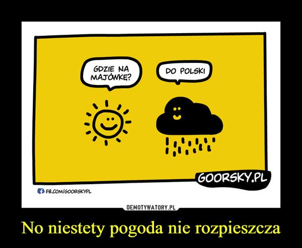 No niestety pogoda nie rozpieszcza –