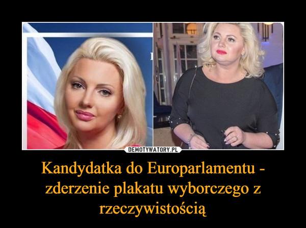 Kandydatka do Europarlamentu - zderzenie plakatu wyborczego z rzeczywistością –