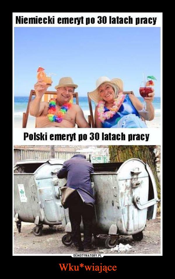 Wku*wiające –  Niemiecki emeryt po 30 latach pracy Polski emeryt po 30 latach pracy