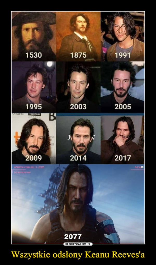 Wszystkie odsłony Keanu Reeves'a –