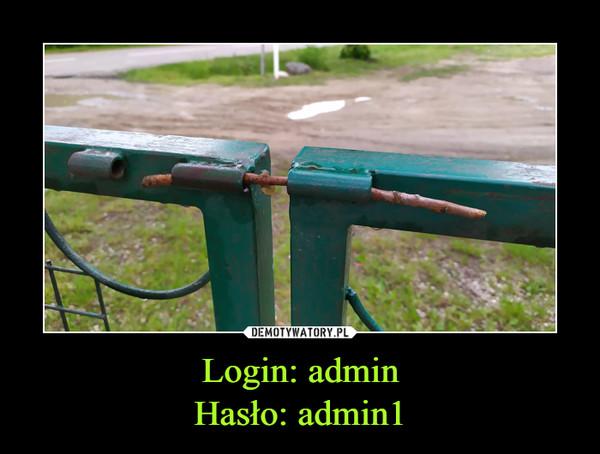 Login: adminHasło: admin1 –