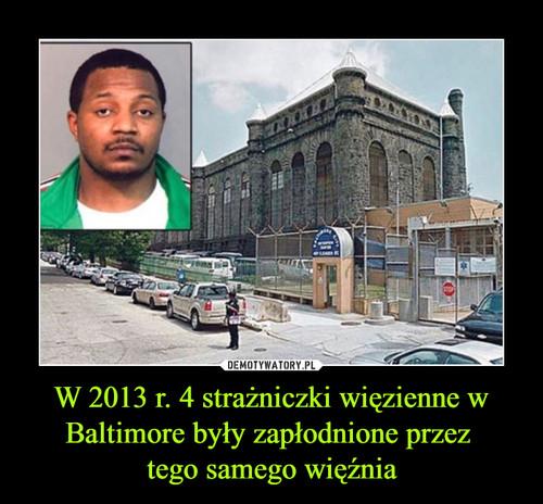 W 2013 r. 4 strażniczki więzienne w Baltimore były zapłodnione przez  tego samego więźnia
