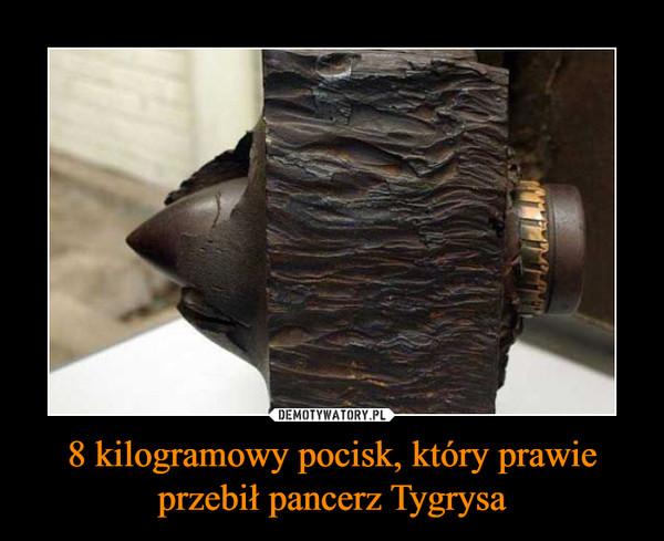 8 kilogramowy pocisk, który prawie przebił pancerz Tygrysa –