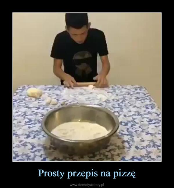 Prosty przepis na pizzę –