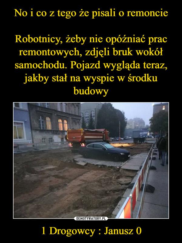 1 Drogowcy : Janusz 0 –