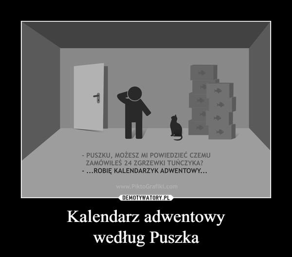 Kalendarz adwentowywedług Puszka –