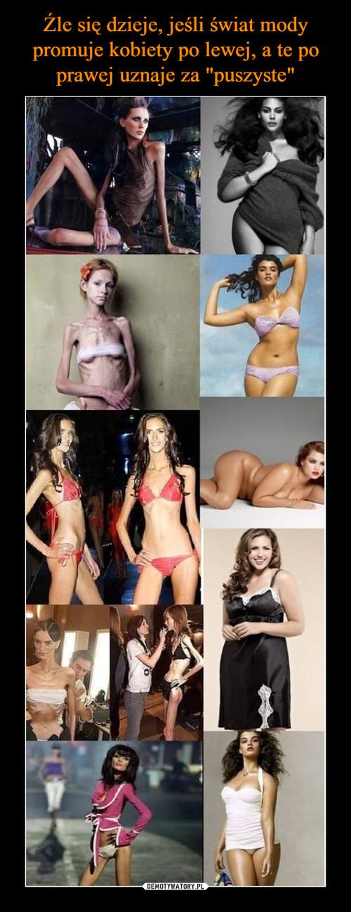 """Źle się dzieje, jeśli świat mody promuje kobiety po lewej, a te po prawej uznaje za """"puszyste"""""""