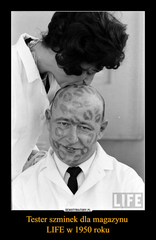 Tester szminek dla magazynu LIFE w 1950 roku –