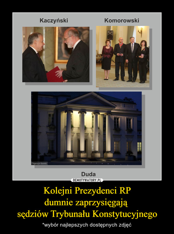 Kolejni Prezydenci RPdumnie zaprzysięgają sędziów Trybunału Konstytucyjnego – *wybór najlepszych dostępnych zdjęć