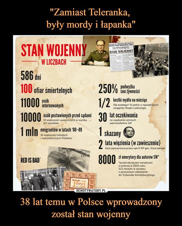 38 lat temu w Polsce wprowadzony został stan wojenny –