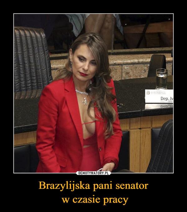 Brazylijska pani senator w czasie pracy –