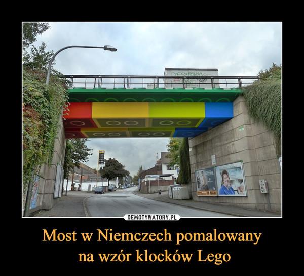 Most w Niemczech pomalowany na wzór klocków Lego –