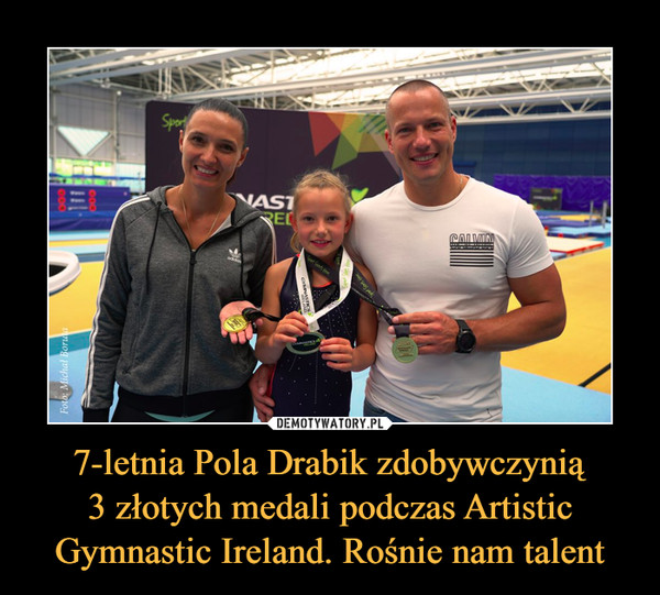 7-letnia Pola Drabik zdobywczynią3 złotych medali podczas Artistic Gymnastic Ireland. Rośnie nam talent –
