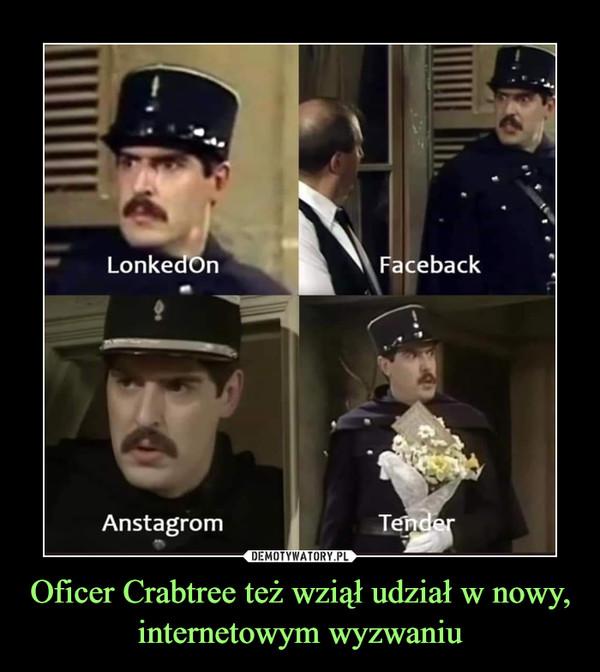 Oficer Crabtree też wziął udział w nowy, internetowym wyzwaniu –