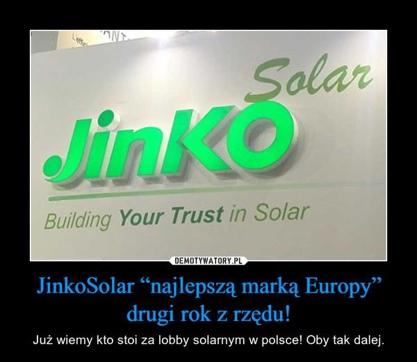 """JinkoSolar """"najlepszą marką Europy"""" drugi rok z rzędu! – Już wiemy kto stoi za lobby solarnym w polsce! Oby tak dalej."""