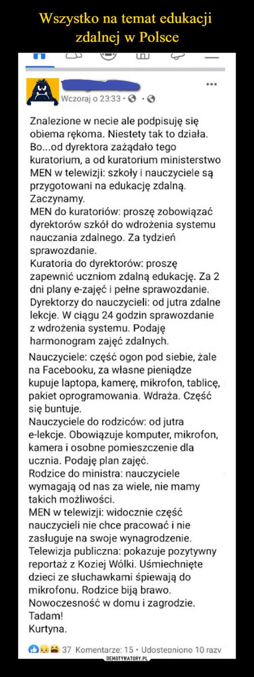 Wszystko na temat edukacji  zdalnej w Polsce