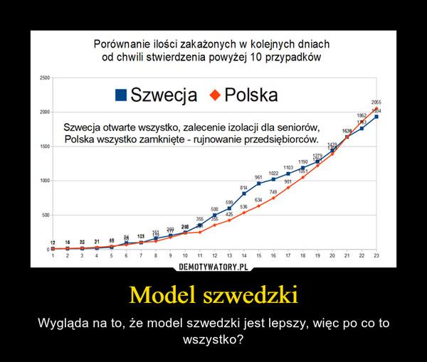 Model szwedzki – Wygląda na to, że model szwedzki jest lepszy, więc po co to wszystko?