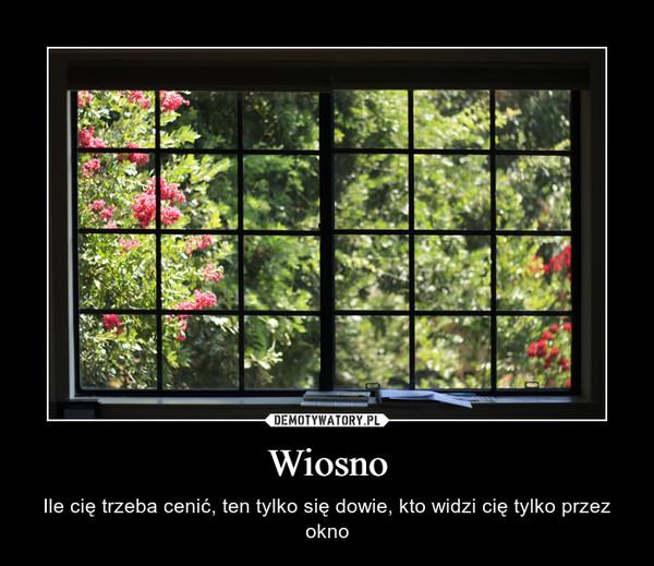 Wiosno – Ile cię trzeba cenić, ten tylko się dowie, kto widzi cię tylko przez okno