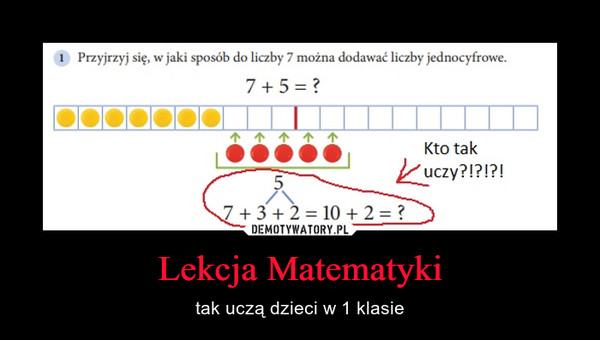 Lekcja Matematyki – tak uczą dzieci w 1 klasie