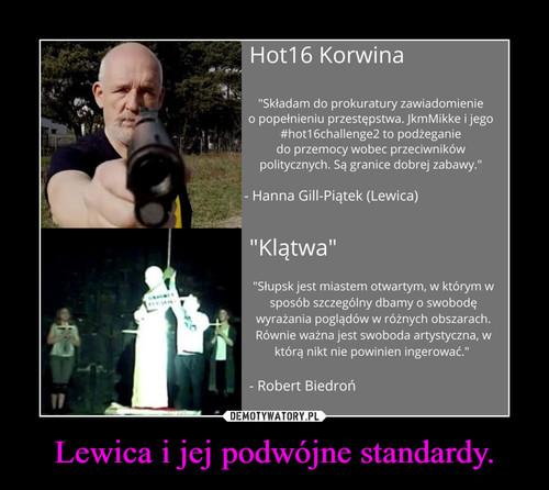 Lewica i jej podwójne standardy.