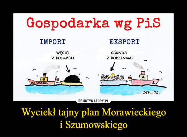 Wyciekł tajny plan Morawieckiegoi Szumowskiego –