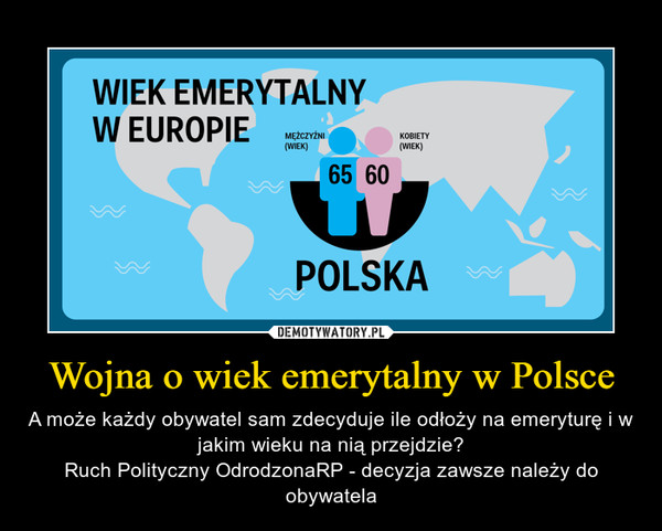 Wojna o wiek emerytalny w Polsce