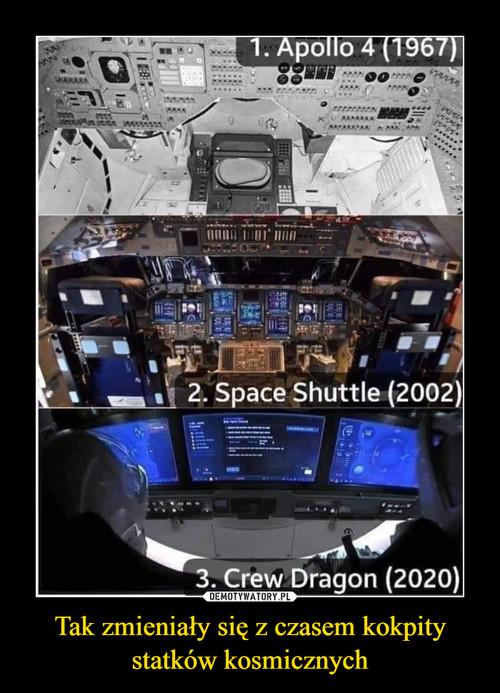 Tak zmieniały się z czasem kokpity statków kosmicznych