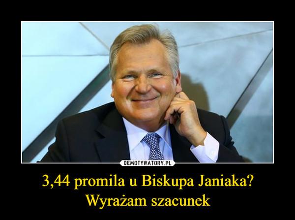 3,44 promila u Biskupa Janiaka?Wyrażam szacunek –