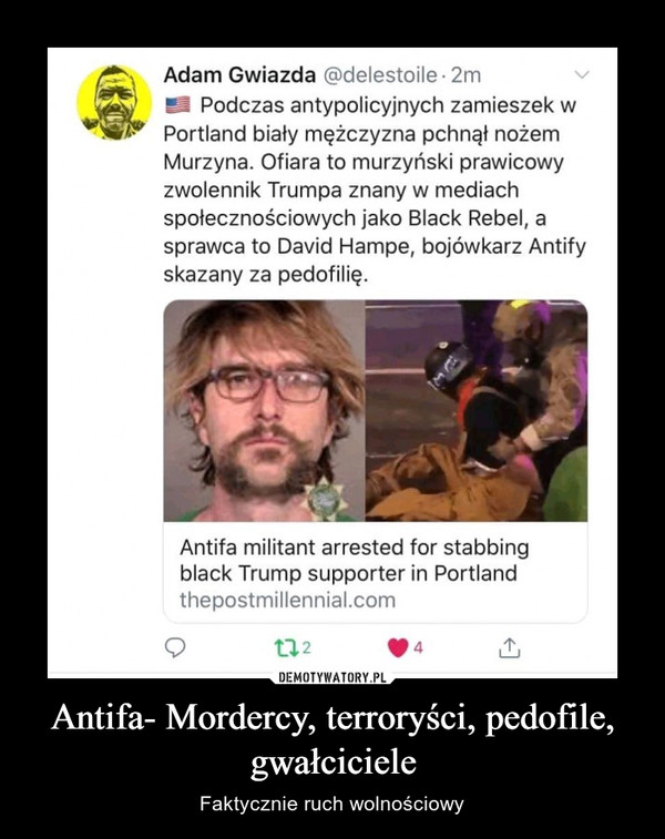 Antifa- Mordercy, terroryści, pedofile, gwałciciele – Faktycznie ruch wolnościowy