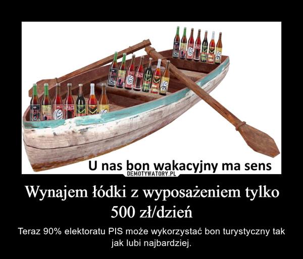 Wynajem łódki z wyposażeniem tylko 500 zł/dzień – Teraz 90% elektoratu PIS może wykorzystać bon turystyczny tak jak lubi najbardziej.