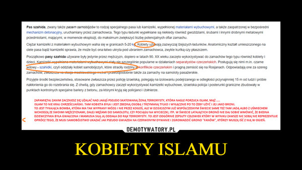 KOBIETY ISLAMU –
