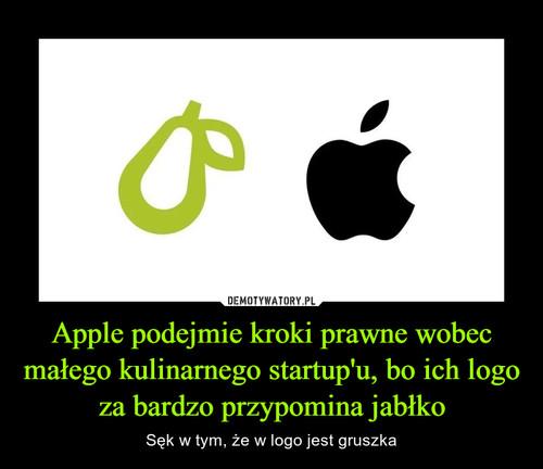 Apple podejmie kroki prawne wobec małego kulinarnego startup'u, bo ich logo za bardzo przypomina jabłko