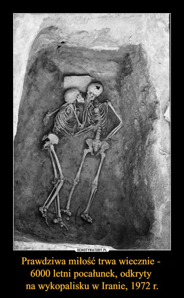 Prawdziwa miłość trwa wiecznie - 6000 letni pocałunek, odkryty na wykopalisku w Iranie, 1972 r. –