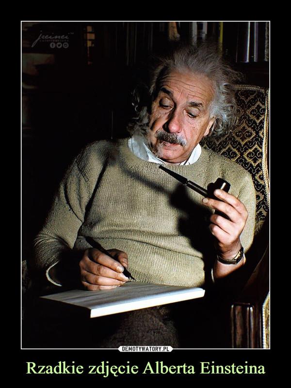 Rzadkie zdjęcie Alberta Einsteina –