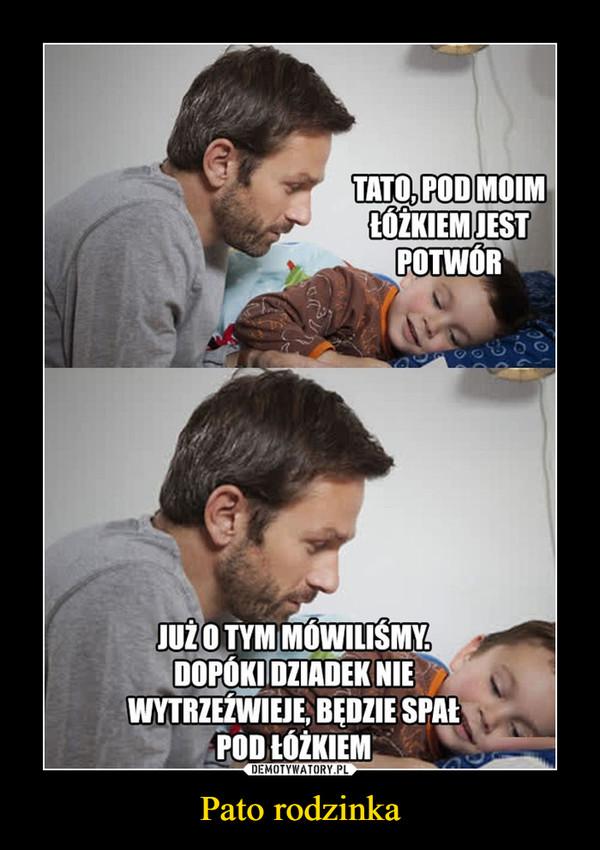 Pato rodzinka –  Tato, pod moim łóżkiem jest potwór Już o tym mówiliśmy, dopóki dziadek nie wytrzeźwieje będzie spał pod łóżkiem