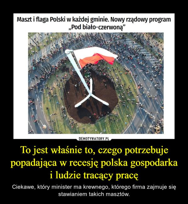 To jest właśnie to, czego potrzebuje popadająca w recesję polska gospodarka i ludzie tracący pracę – Ciekawe, który minister ma krewnego, którego firma zajmuje się stawianiem takich masztów.