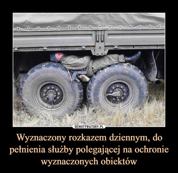 Wyznaczony rozkazem dziennym, do pełnienia służby polegającej na ochronie wyznaczonych obiektów –