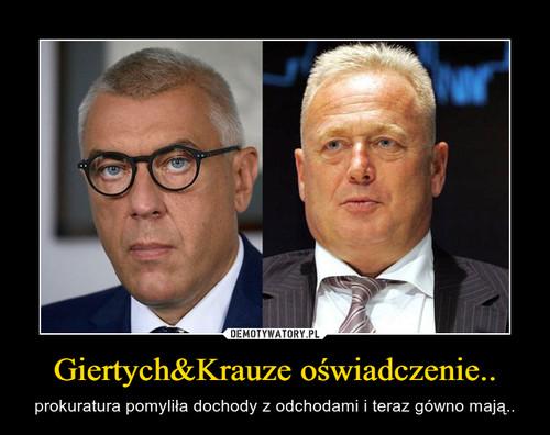 Giertych&Krauze oświadczenie..