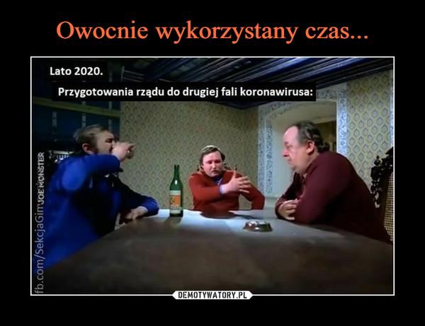 –  Lato 2020.Przygotowania rządu do drugiej fali koronawirusa: