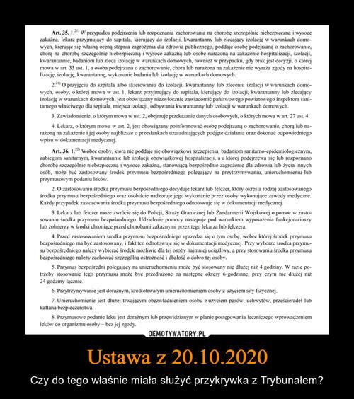 Ustawa z 20.10.2020